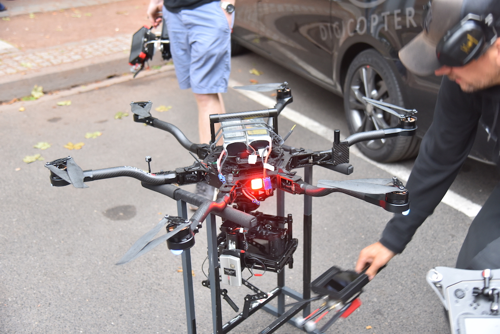 Drohne im Einsatz Foto:LOKALBÜRO