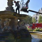 Schalenbrunnen am Corneliusplatz wurde gereinigt