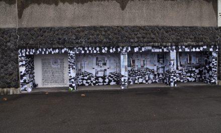 Unbekannter Künstler schaffte Kunstwerk am Tonhallenufer