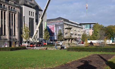 Aufbau DEG Winterwelt auf dem Corneliusplatz hat begonnen