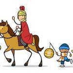 Sankt Martin reitet wieder durch die Stadt