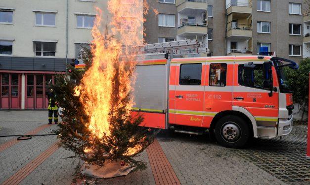 Erhöhte Feuergefahr in der Vorweihnachtszeit