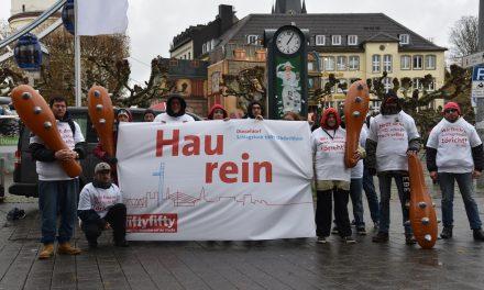 Obdachlosen-Protest: Keine Schlagstöcke für denOSD!
