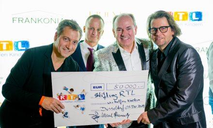 """FRANKONIA EUROBAU AG  und Geuer & Geuer überreichten Spendenscheck über  50.000 € für die RTL Stiftung """"Wir helfen Kindern"""""""