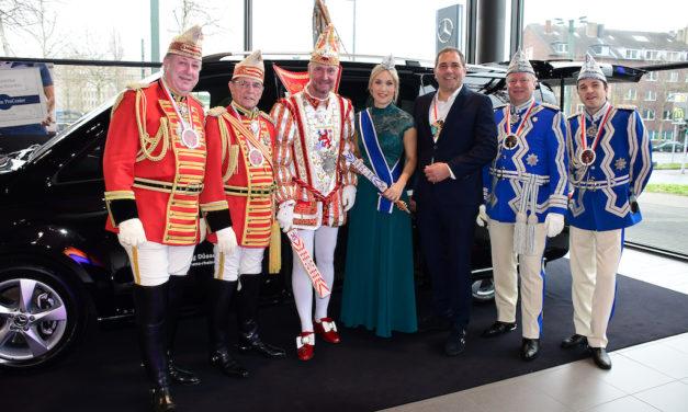 Prinzenpaar fährt erstmals gemeinsam S-Klasse