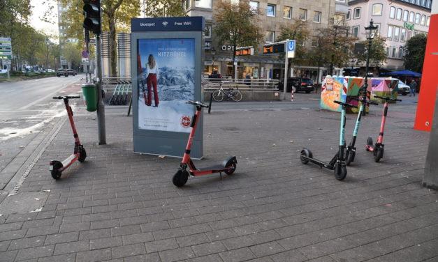 Sonderregelung zur Nutzung von E-Scootern an Karneval