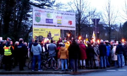13 Kreuze gegen die CO-Pipeline