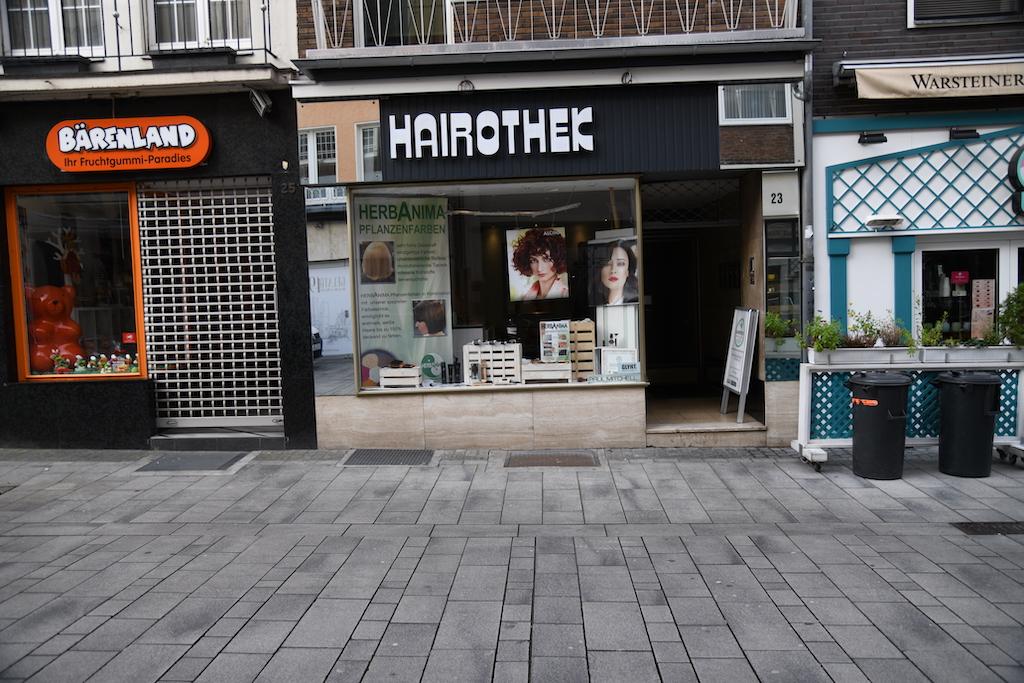 Hairothek in der Bergerstraße Foto: LOKALBÜRO