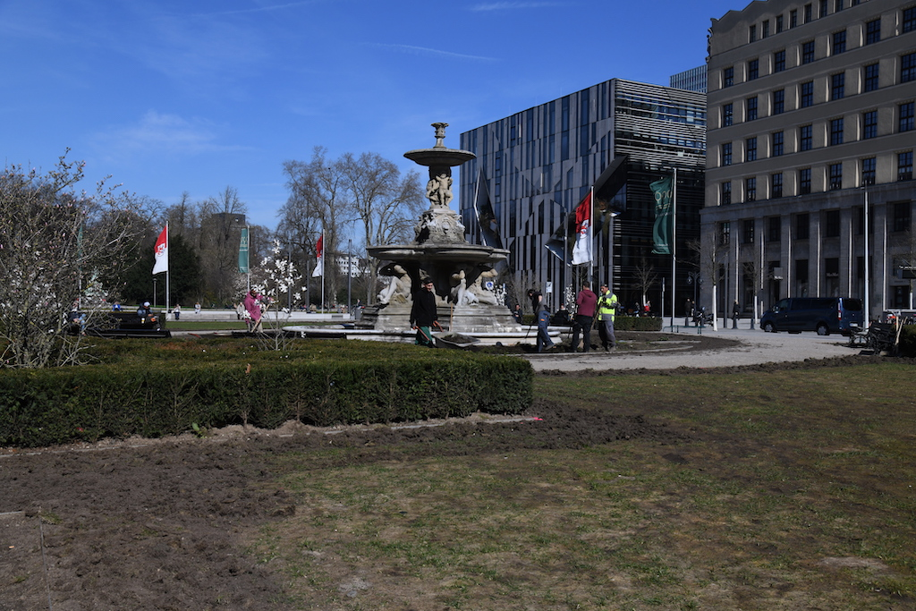 Corneliusplatz wir hergerichtet Foto: LOKALBÜRO