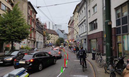 """""""pop-up-Radweg"""" —  Mehr Platz fürs Rad in Unterbilk"""