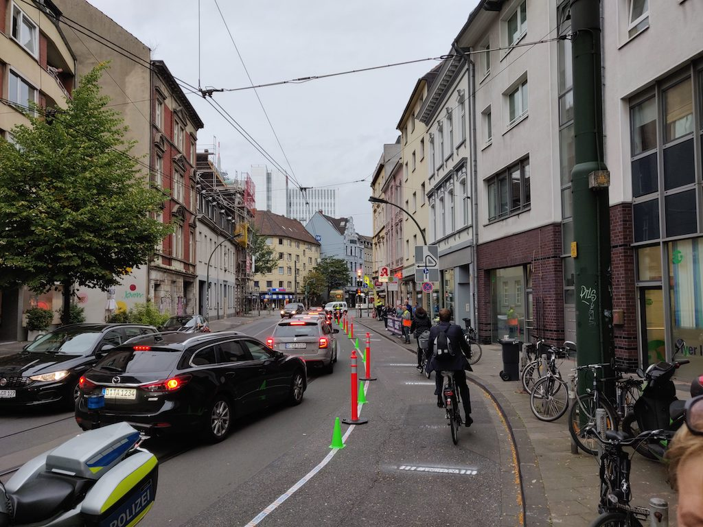 Pop Up Radweg Düsseldorf