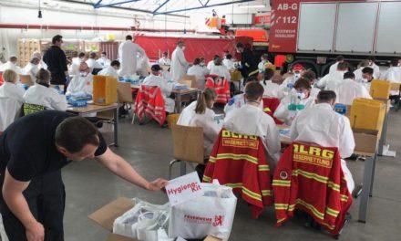 Stadt startet mit der Verteilung von Hygiene-Kits imÖPNV
