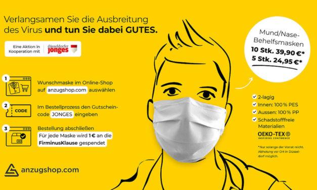 Konzept Gesichtsmasken-Spendenaktion der Düsseldorfer Jonges