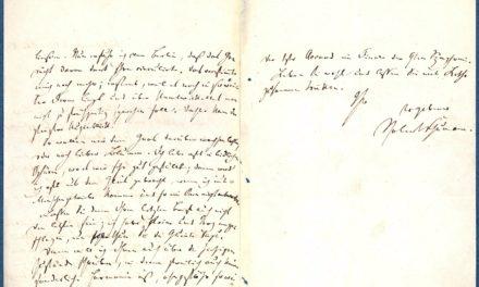 Heinrich-Heine-Institut kauft Brief von Robert Schumann