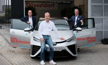 Erstes Wasserstoffauto für die Fahrzeugflotte der Landeshauptstadt