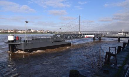 RheinWerke elektrifizieren vier weitere Steiger am Düsseldorfer Rheinufer