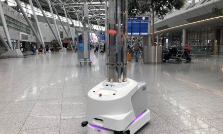 Düsseldorfer Airport testet Desinfektionsroboter