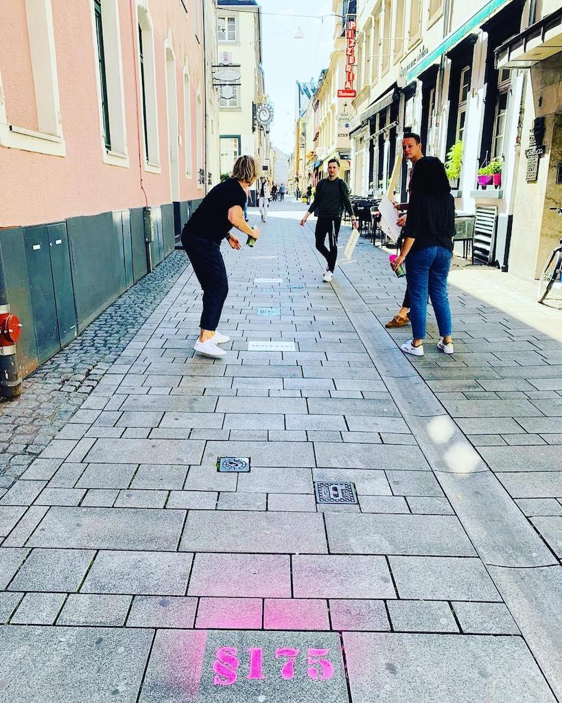 Spur durch die Altstadt Foto: Mahn und Gendenkstätte
