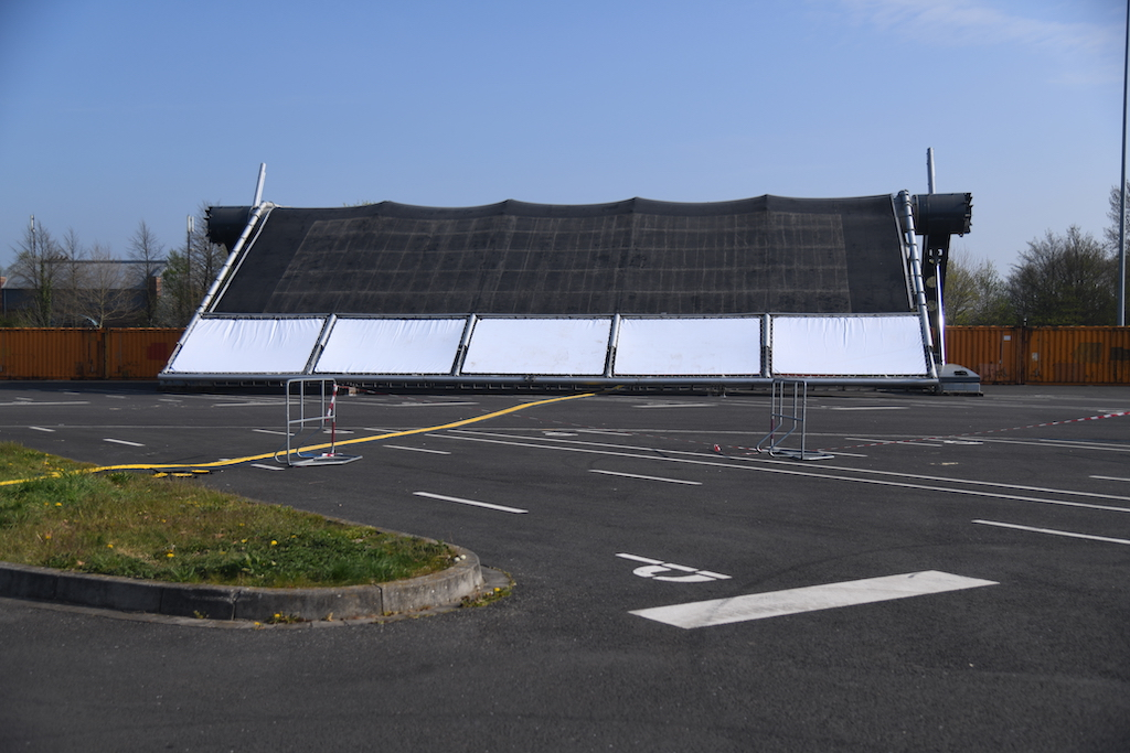 Aufbau am 7. April 2020 Foto: LOKALBÜRO