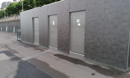 Toilettenanlage an der Burgplatztreppe wieder außer Betrieb