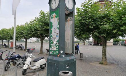 Persil-Uhr — sie wird geflickt. Nurwann?