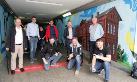 Bahnhof Eller-Süd: Graffiti-Künstler verschönern Unterführung