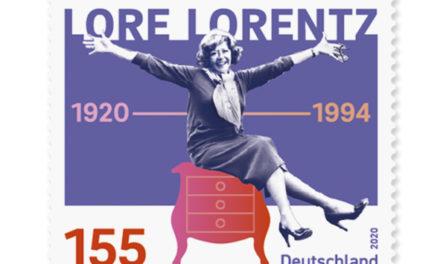 Lore Lorentz hat es auf eine Briefmarke geschafft
