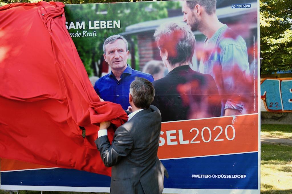 Vorstellung Wahlkampfplakat Foto: LOKALBÜRO