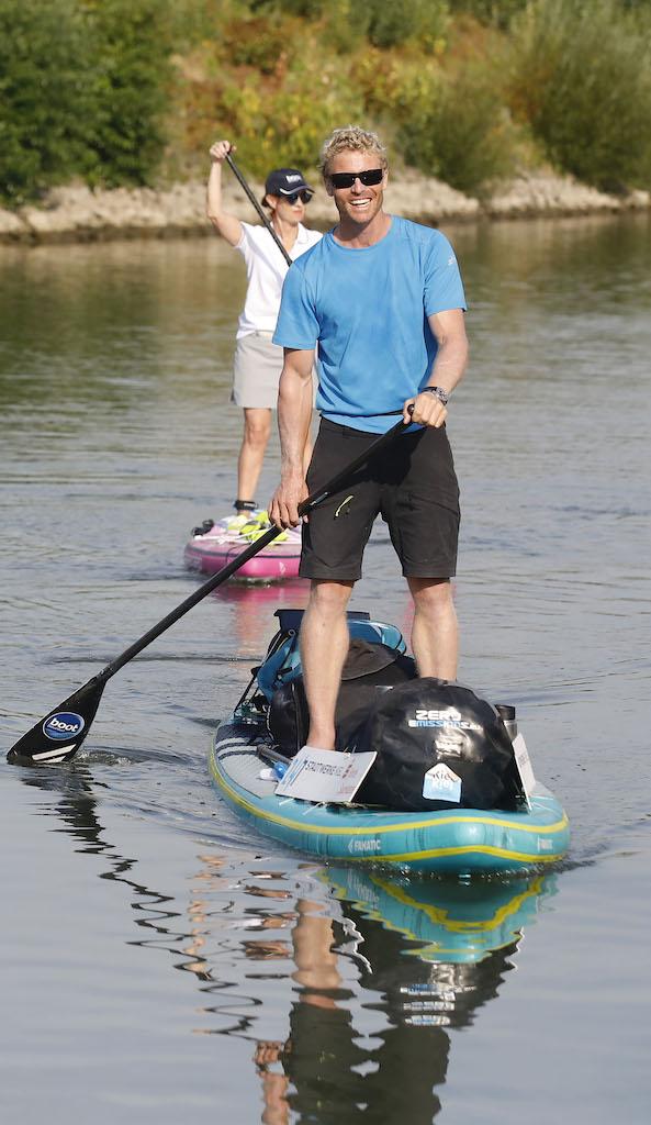 Michael Walther paddelt 1.300 Kilometer von Basel nach Kiel