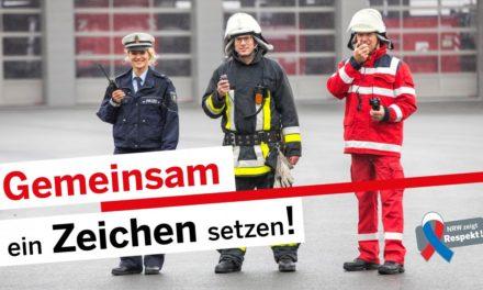 30.000 Pins – Kampagne für Respekt vor Einsatzkräften