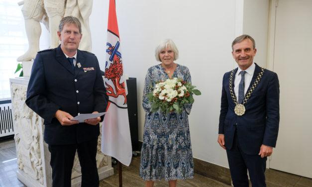 Kaspar Hilger von der Feuerwehr Düsseldorf ausgezeichnet