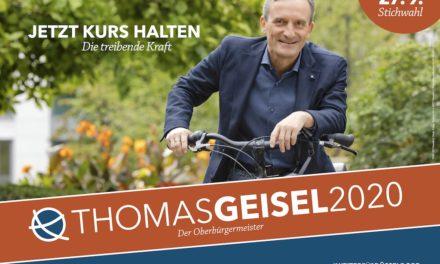 1000 neue Wahlplakate für Thomas Geisel