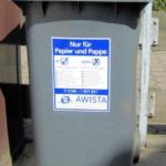 Awista liefert weitere blaue Tonnen aus