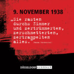"""Düsseldorf erinnert"" — Gedenken an den Novemberpogrom 1938"