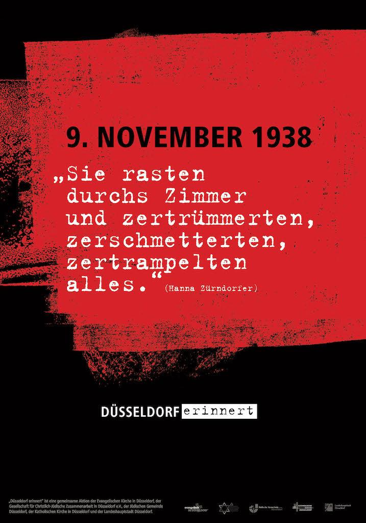 Die Aussage der Zeitzeugin Hanna Zürndorfer auf dem zweiten Plakat führt vor Augen, was sich konkret dahinter für die betroffenen Menschen verbarg,(c)Landeshauptstadt Düsseldorf