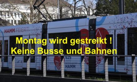 Am Montag Streik bei Busse und Bahnen