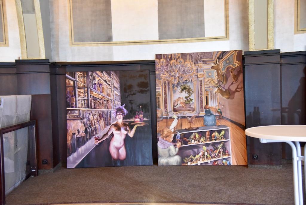 Vorbereitung der Ausstellung Foto: LOKALBÜRO