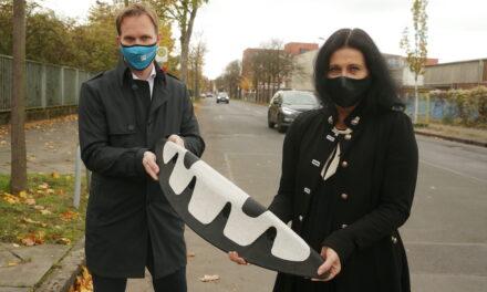 Erste Protected Bike Lane entsteht in Holthausen