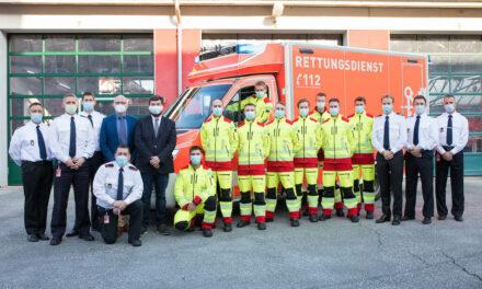 Neun neue Notfallsanitäter bei der Feuerwehr Düsseldorf