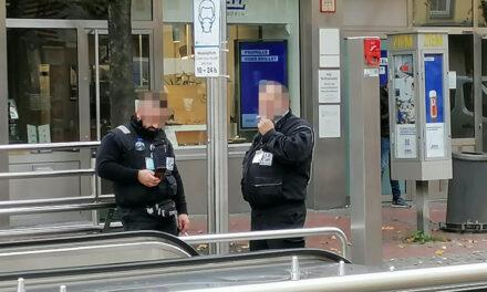 Maskenpflicht — auch für Rheinbahn-Sheriffs