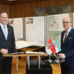 Antrittsbesuch des Düsseldorfer Oberbürgermeisters Keller – Landtagspräsident Kuper