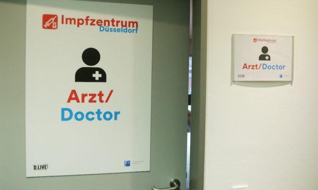 Der Weg durch das Impfzentrum Düsseldorf