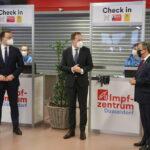 Ministerpräsident Armin Laschet und Bundesgesundheitsminister Jens Spahn besuchen künftiges Impfzentrum in Düsseldorf