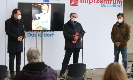 Impfaktion gegen COVID-19 in der Landeshauptstadt Düsseldorf ist gestartet