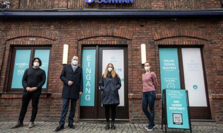 Rechtzeitig vor Weihnachten startet daher in Düsseldorf heute das erste Corona Schnelltest Zentrum