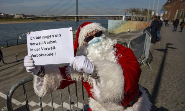 Weihnachtsmann besucht Verweil-Verbotszone