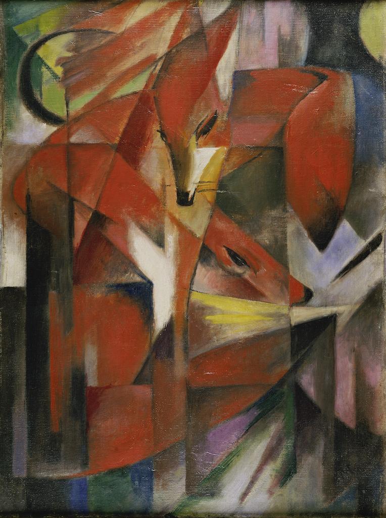 """Franz Marc, 1880-1916, """"Füchse"""", 1913, 88 x 66 cm, Öl auf Leinwand ,(c)Kunstpalast - ARTOTHEK"""