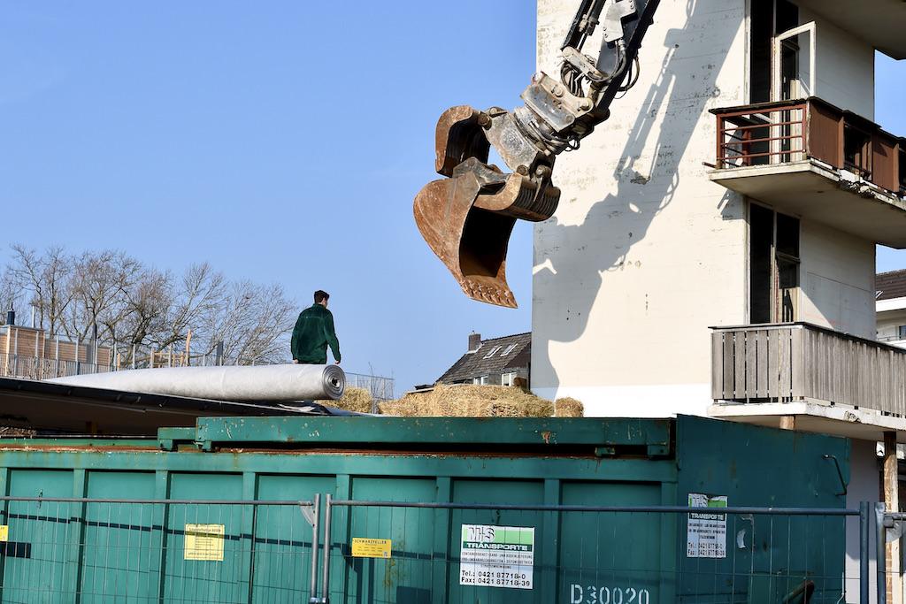 Vorbereitungen zum Abriss Foto: LOKALBÜRO