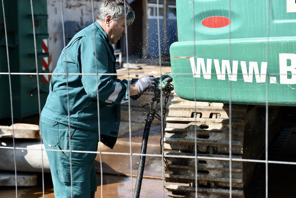 Anschluß für die Bewässerung des Gebäudes Foto: LOKALBÜRO