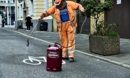 ADFC Düsseldorf fordert Nachbesserung am neuen Radfahrstreifen auf der Prinz-Georg-Straße